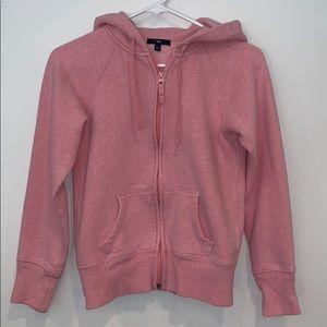Pink hooded GAP sweatshirt